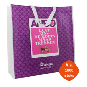 Extra sterke Big shopper mat of glans gelamineerd 45 x 18 x 48 cm